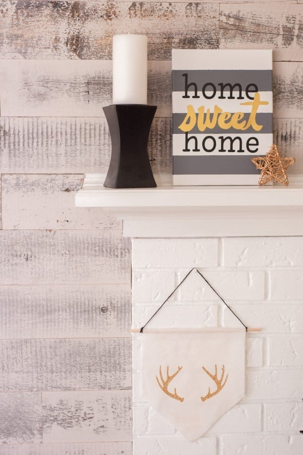 Home Sweet Home Canvas Art – Dwell Beautiful - Home Sweet Home Art: 14 Easy DIY Craft Ideas featured on Kenarry.com