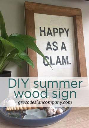 DIY Summer wood sign
