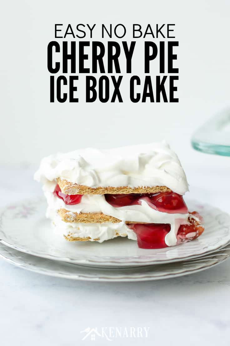 Use this easy recipe for No Bake Cherry Pie Ice Box Cake the next time you want to delight your family at a backyard barbecue, picnic or potluck! It's made with just 3 ingredients, so it's a quick dessert idea for summer.