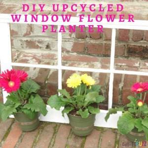 DIY Upcycled Window Flower Planter
