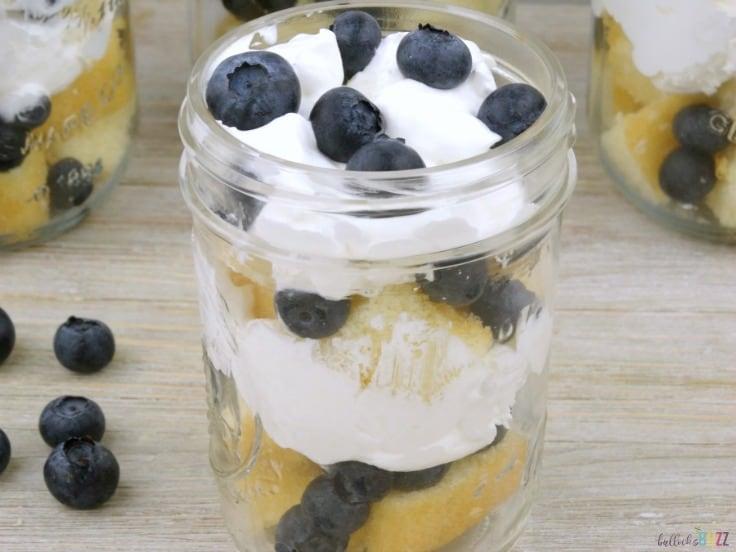 mason jar Blueberry Shortcake Trifles