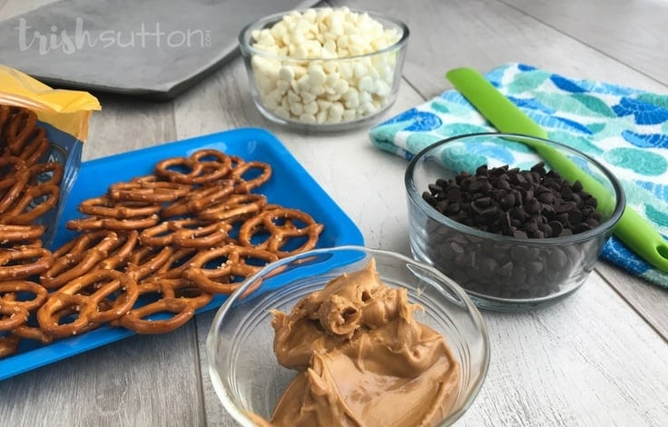 Chocolate Peanut Butter Pretzels Recipe; TrishSutton.com