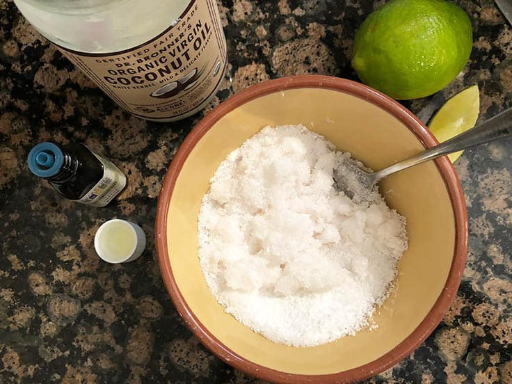 DIY Coconut Lime Body Scrub Recipe