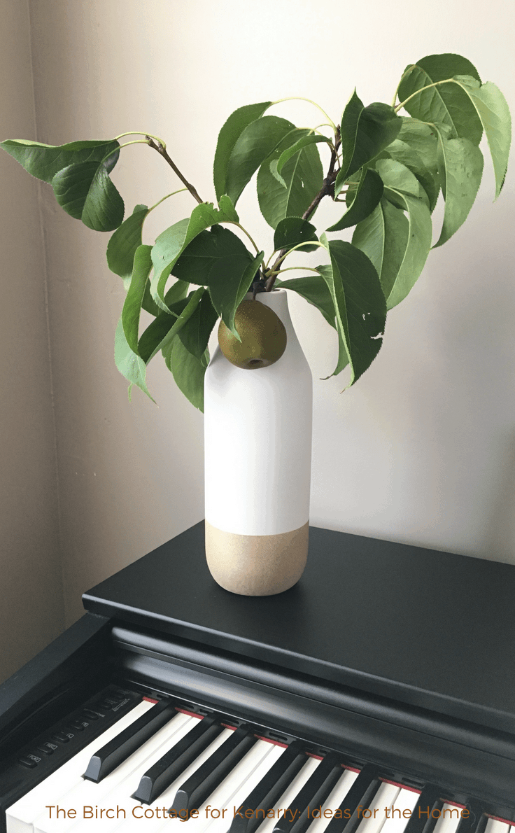 A flower pot makeover with two tone paint by The Birch Cottage
