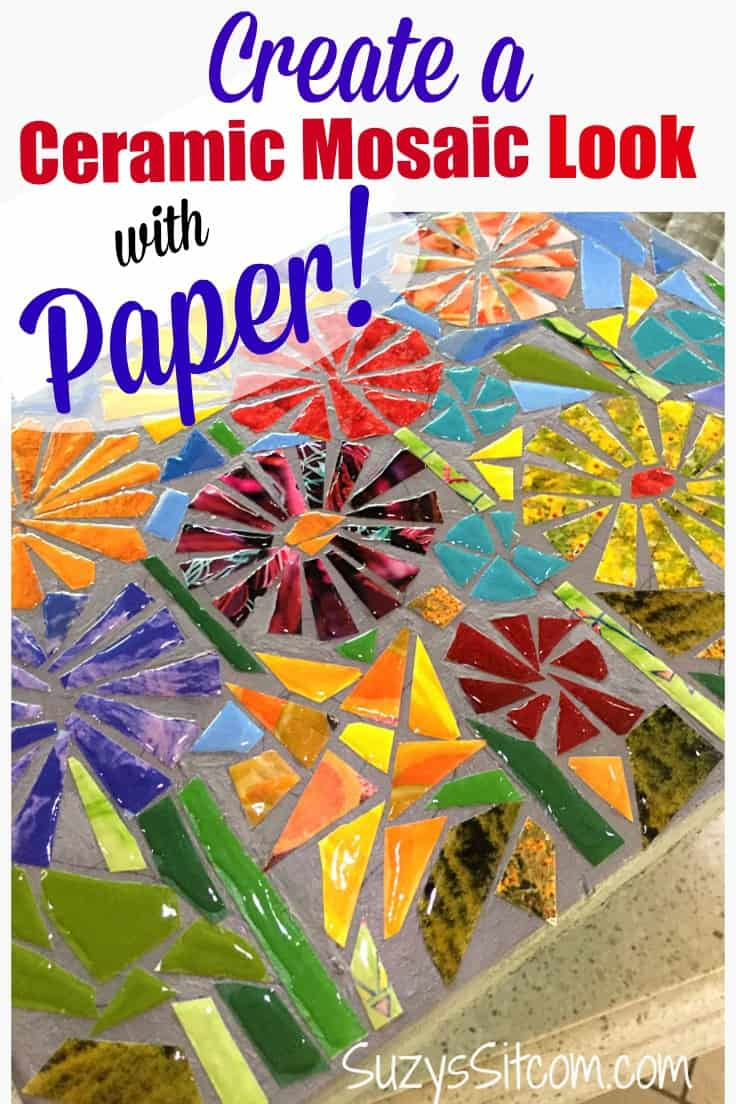 Create a ceramic mosaic look with paper