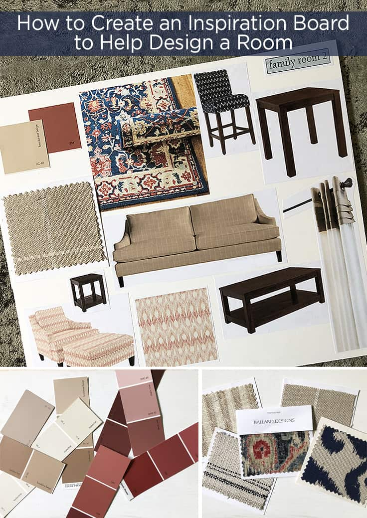 All the details on how to make a DIY inspiration board when designing a room to help you streamline your design choices, make better decisions on your ideas, stay within your budget, and save you time. #inspirationboard #homedecor #bedroom #kitchen #livingroom #bathroom #kenarry