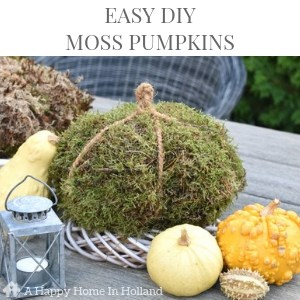 easy diy moss pumpkins tutorial
