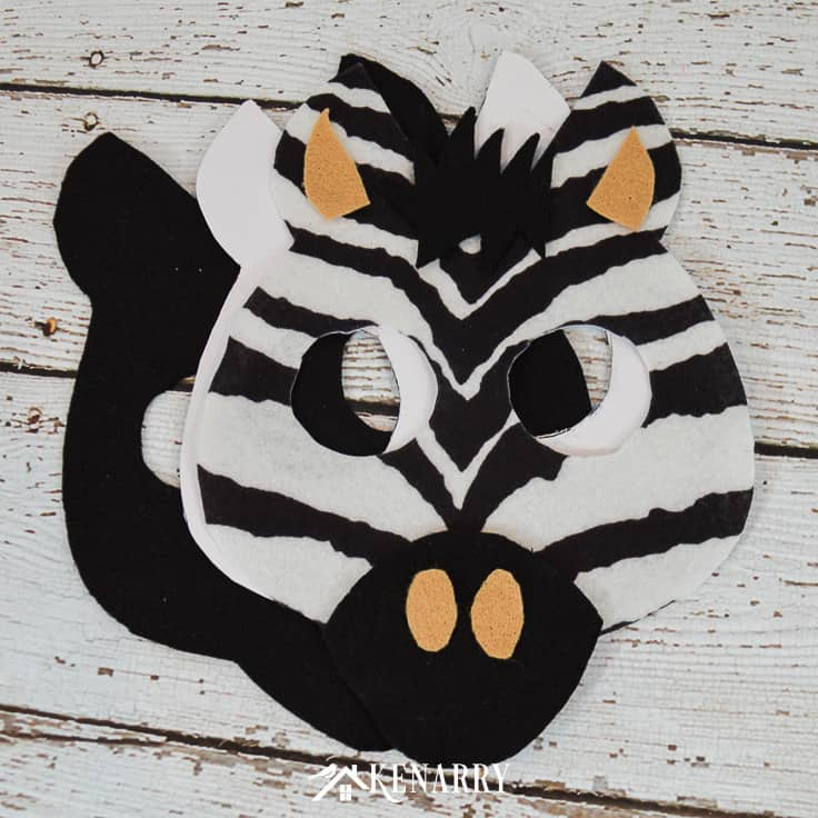 Does your child love zebras? Learn how to make an easy kids zebra costume with this step-by-step tutorial for Halloween or for an every day animal or zoo dress-up costume.