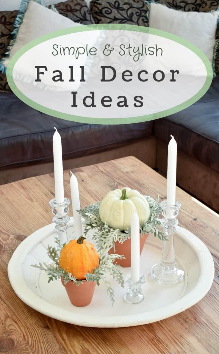 fall decor ideas using pumpkins and gourds. #fall #falldecorideas #fallhomedecor #falldecorations #pumpkins #kenarry