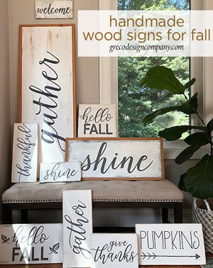 Homemade wood signs for fall