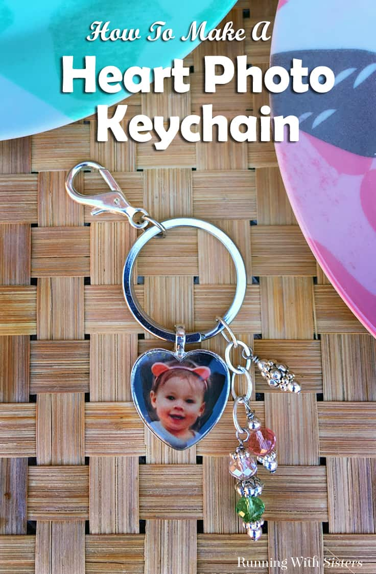 Make a DIY Heart Photo Keychain featuring your favorite photo. We'll show you how to make the beaded picture pendant with resin and add it to the keychain. It's the perfect homemade gift to give out this Christmas! #diy #crafts #giftideas #homemade #diychristmas #mothersday #kenarry