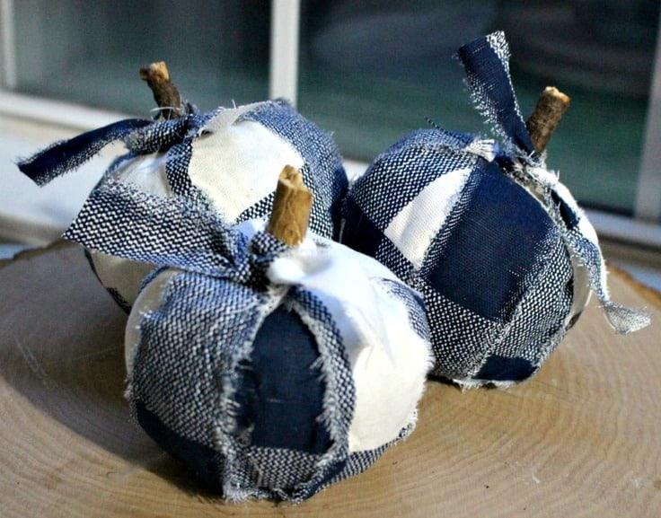 Adorable Buffalo Check Pumpkins From Dollar Store Finds - Our Crafty Mom - Buffalo Plaid Decor Ideas on Kenarry.com