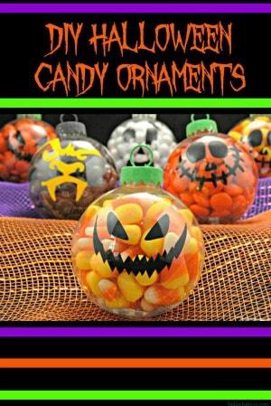 Other ideas like the Halloween Wreath DIY Halloween candy ornaments