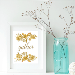 Gather Thanksgiving Print by The Birch Cottage
