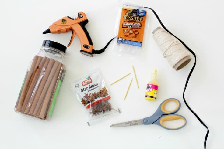 Tools to make homemade Christmas ornaments