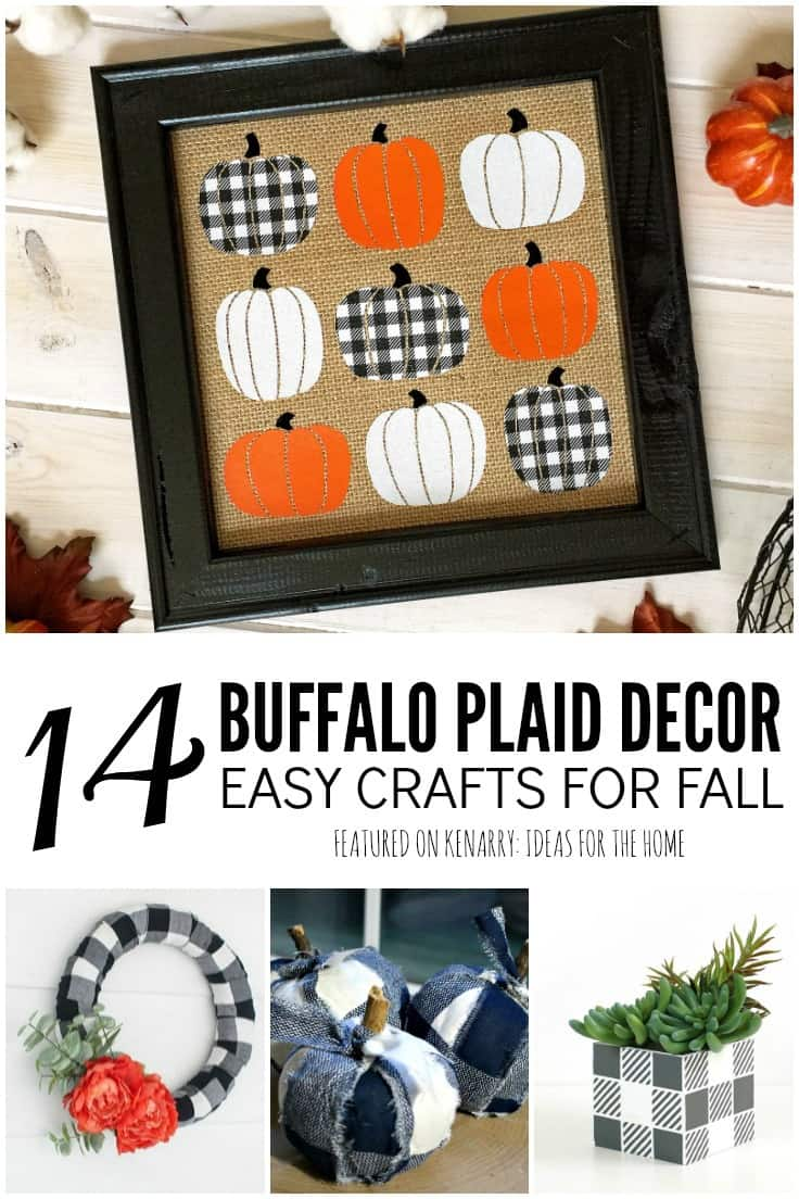 Buffalo check fabrics and patterns are trendy, especially for fall and Christmas. Learn how to make your own buffalo plaid decor using these easy DIY craft ideas. #buffalocheck #buffaloplaid #kenarry
