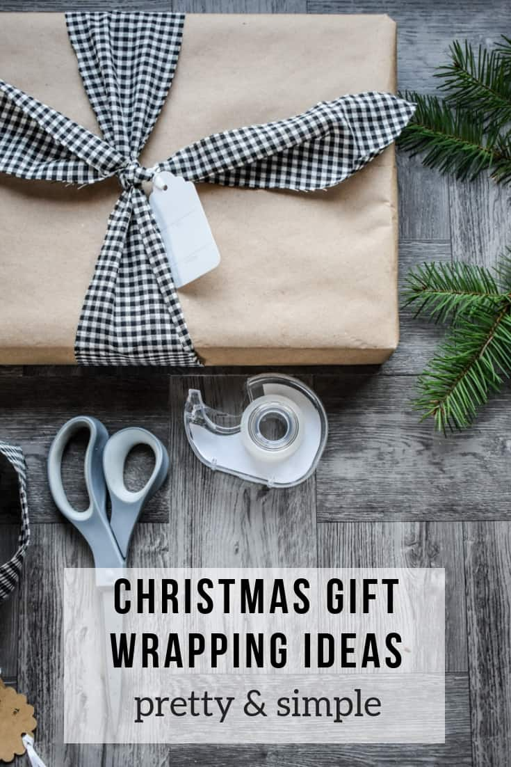 Need some clever Christmas gift wrapping ideas? Try brown paper with unique fabric bows! It's a simple and creative way to wrap beautiful presents for Christmas. #giftwrapping #christmas #kenarry