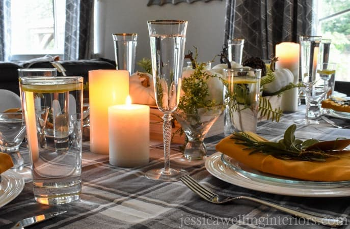 Candles on a Thanksgiving Table