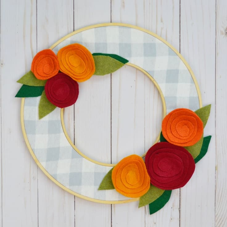 IY Fall Wreath That's Easy and Inexpensive to Make - Mary Martha Mama - Buffalo Plaid Craft Ideas featured on Kenarry.com