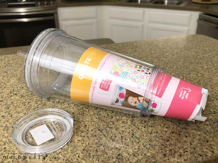 photo acrylic tumbler insert
