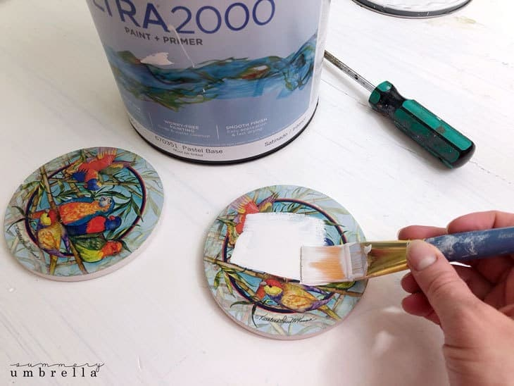 how to create hand lettered drink coasters