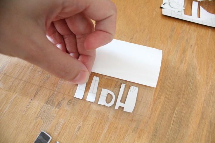 vinyl letters on transfer tape
