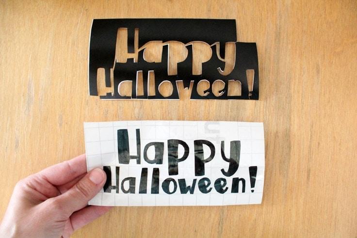 Happy Halloween vinyl lettering