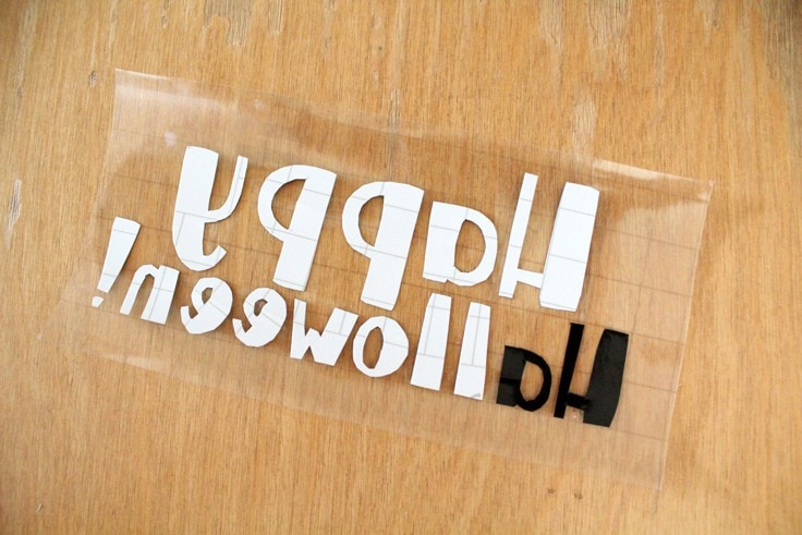 vinyl lettering