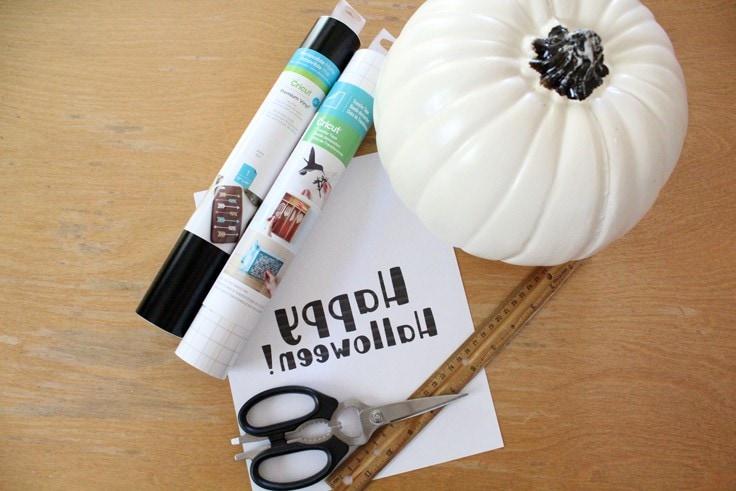 vinyl pumpkin supplies