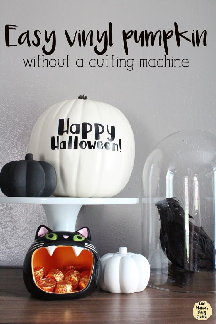 Easy Vinyl Pumpkin without a cutting machine