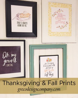 Thanksgiving & Fall Art Prints with a Freebie