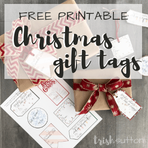 Free Printable Christmas Gift Tags; TrishSutton.com