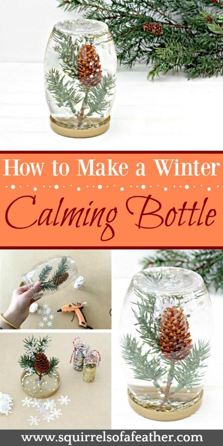 Steps to make winter glitter bottle