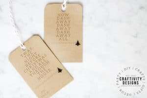 """""""Twas The Night Before Christmas"""" Modern Gift Tags are perfect for Christmas Presents!"""