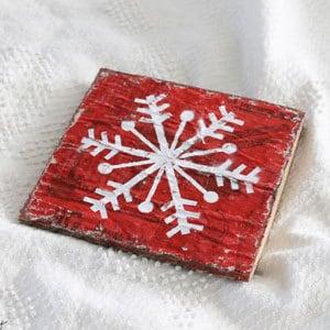 diy snowflake sign