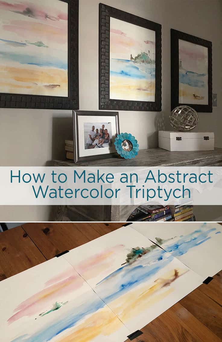 You don't have to be an artist to create this abstract watercolor art background- just making patterns and painting colors is fun whether your a beginner or a pro. Use these step by step instructions to learn how to create these beautiful masterpieces. #painting #diydecor #kenarry