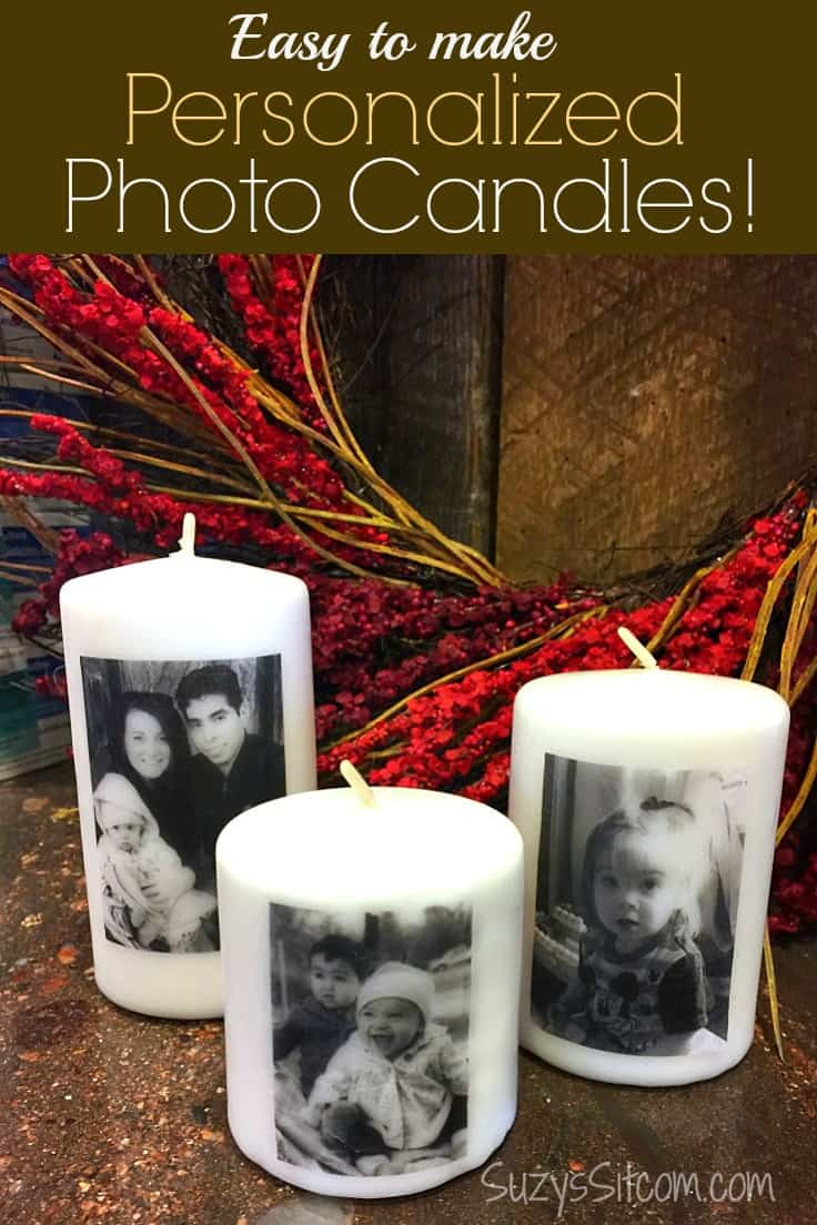 Easy to Make Personalized Photo Candles