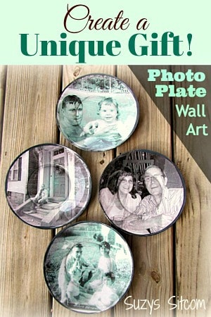Photo plate wall art.  Create a beautiful gift!