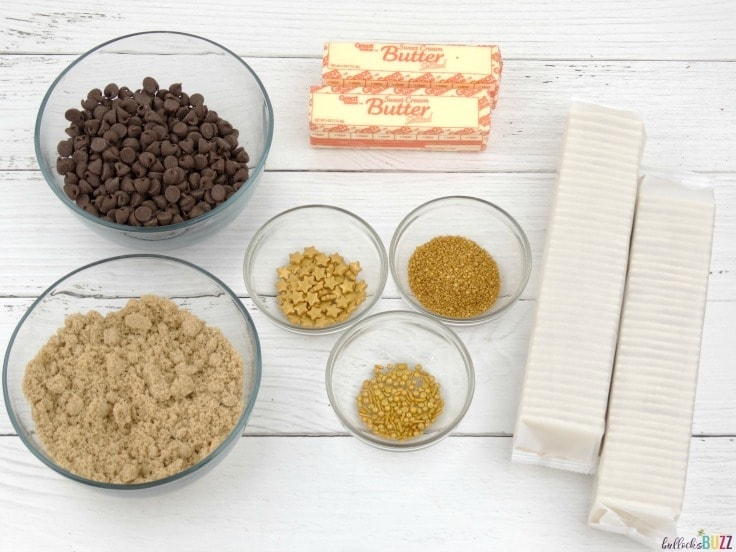 New Year's Eve Toffee Bark Recipe ingredients