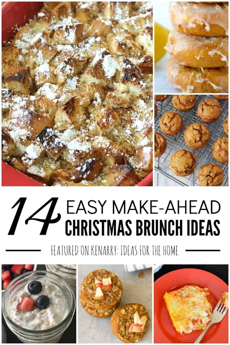 Delight your family and save time on a busy holiday morning with these easy breakfast recipes and make ahead Christmas brunch ideas for a crowd. #makeaheadbreakfast #christmasbreakfast #kenarry