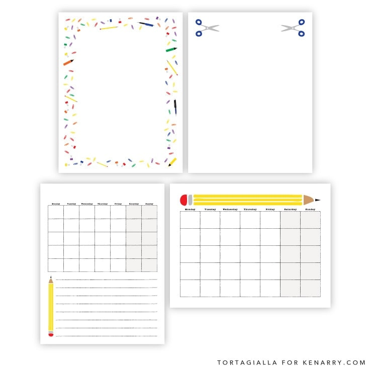 More Perpetual Kids Planner Pages on Kenarry.com / Here's a set of free printables to introduce and teach your little ones about planning, calendar of dates and consistency in time management. #plannerorganization #planner #kenarry