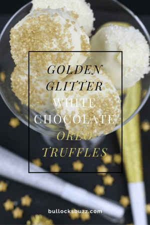 New Year's Eve recipe Golden Glitter White Chocolate Oreo Truffles