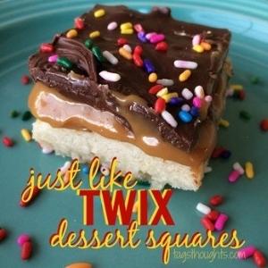 Twix Dessert Squares; TrishSutton.com