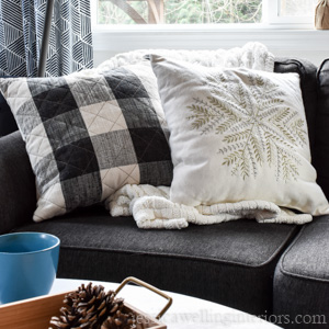 These affordable winter throw pillows will take you from Christmas to Winter cozy with no effort at all!