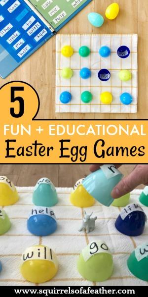 5 Easter egg games for kids.