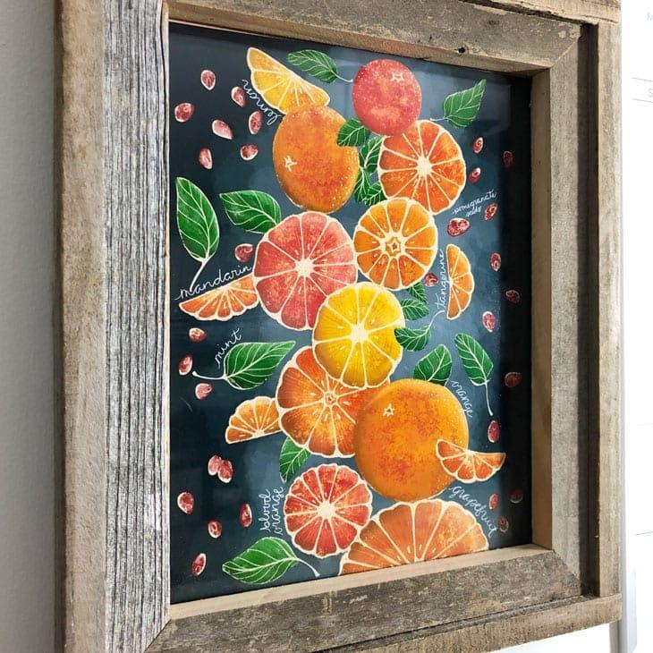 free printable wall art orange
