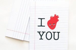 I heart you - FREE stationery printable on tortagialla.com
