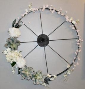 embroidery hoop wagon wheel wreath