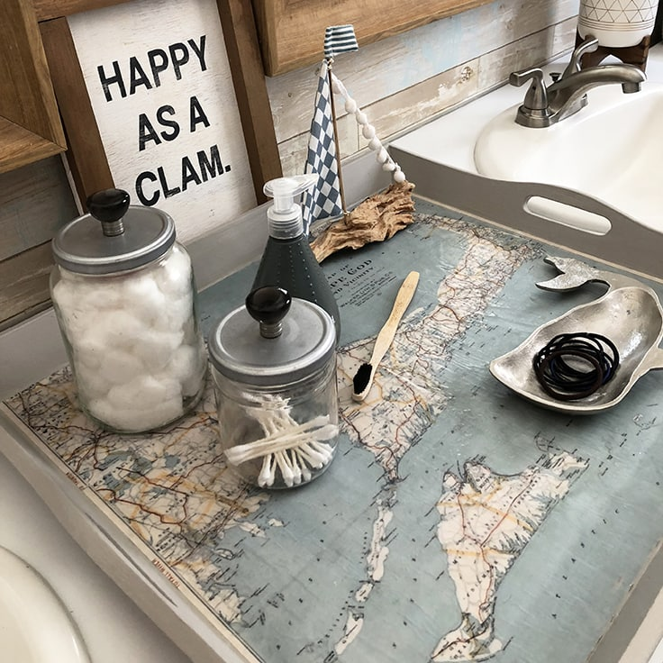 Diy Nautical Decor Ideas: Map Tray: DIY Nautical Decor Idea For Your Home