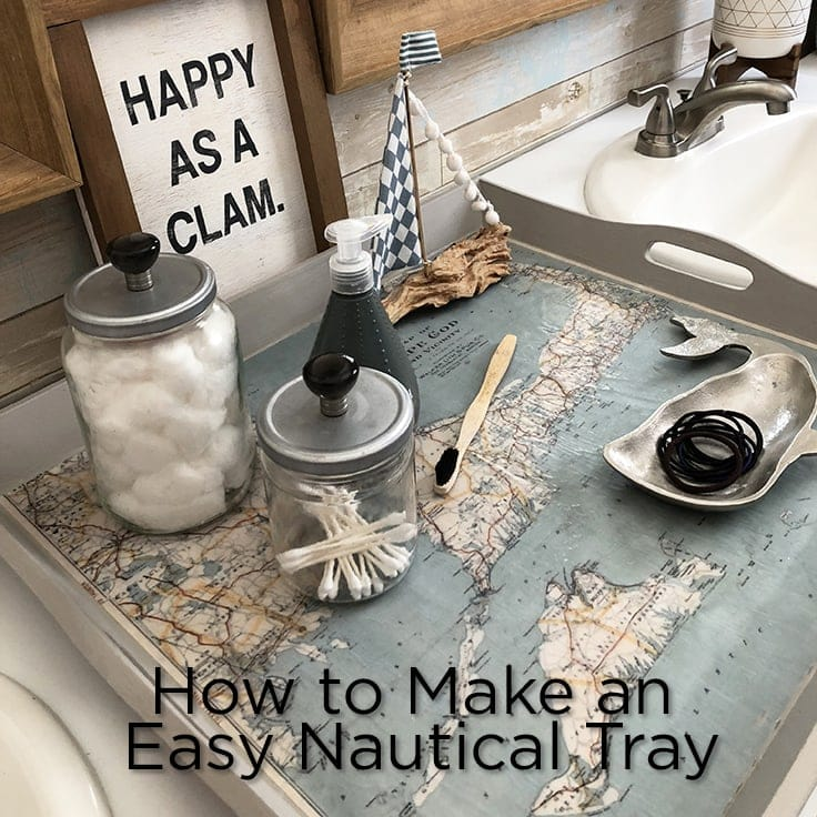 How to Make an Easy Nautical Tray